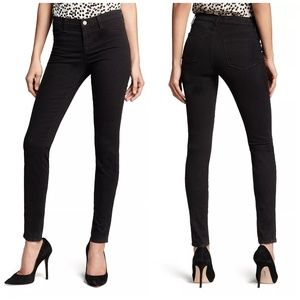 Jbrand 485 luxe sateen mid rise super skinny black